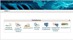 web-hosting-database-control